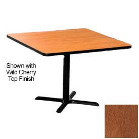 Square 48x48 Laminate Top Table Wild Cherry