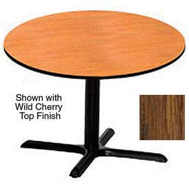 Premier Hospitality Round Restaurant Table - 36 Inch - Table Medium Oak