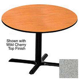 Round 36 Inch Laminate Top Table Gray