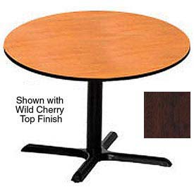 Round 36 Inch Laminate Top Table Mahogany
