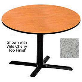 Round 42 Inch Laminate Top Table Gray Nebula