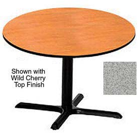 Round 48 Inch Laminate Top Table Gray Nebula