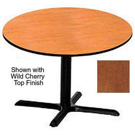 Round 48 Inch Laminate Top Table Wild Cherry