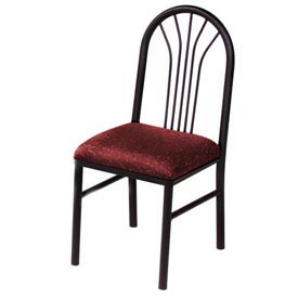 Fabric Cafe Chair Burgundy