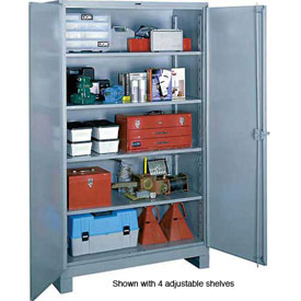 Lyon Heavy Duty Storage Cabinet DD1112 - 36x21x64 - Gray