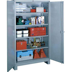 Lyon Heavy Duty Storage Cabinet DD1147 - 48x24x64 - Gray