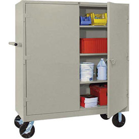 Lyon Heavy Duty Mobile Storage Cabinet PP1170 - 60x24x68 - Putty