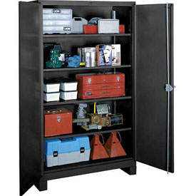 Lyon Heavy Duty Storage Cabinet KK1120 - 48x24x82 - Black