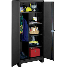 Lyon Heavy Duty Combination Storage Cabinet KK1121 - 36x24x82 - Black