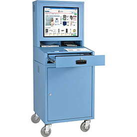 Mobile Security LCD Computer Cabinet Enclosure - Blue
