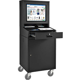 Mobile Security LCD Computer Cabinet Enclosure - Black (Unassembled)