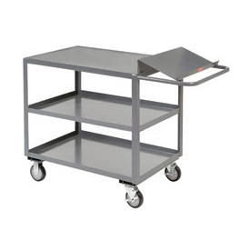 Jamco Three Shelf Order Picking Cart LO136 36x18 Flush Top Shelf