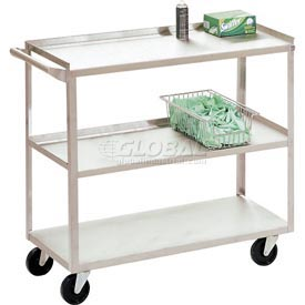 Jamco Stainless Steel Utility Cart XV136 36x18x35 1200 Lb. Capacity
