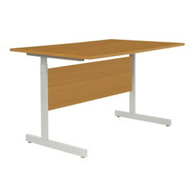 "Computer Desk/Table 48""x30"" with 26"" to 28"" Height Adjustability - Oak"