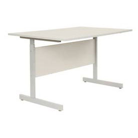 "Interion® Height Adjustable Computer Desk/Table, 48""W x 30""D x 26""- 28""H, Gray"