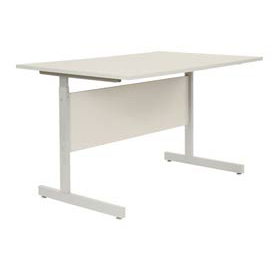 "Computer Desk/Table 60""x30"" with 26"" to 28"" Height Adjustability - Gray"
