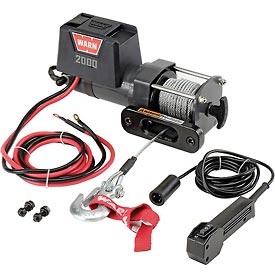 Warn® 2000 DC Powered 2000 Lb. Cap. 12V Trailer Loading Utility Winch 92000