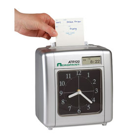 Electronic Payroll Time Clock With Time Display