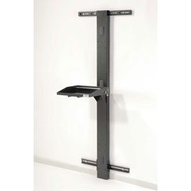 "72""H Laptop Wall Mount Unit - Black"