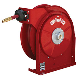 "Reelcraft 5650 OLP 3/8"" X 50' Air/Water Hose Reel Retractable w/Hose All Steel Compact 300psi"