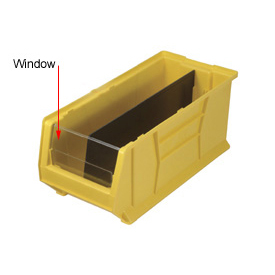 Quantum Clear Window WUS950/970 For Hulk Bins QUS950, 8-1/4 x 23-7/8 x 7, Price Per Package of 6