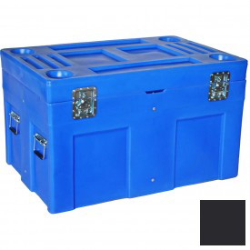"""Myton Shipping Container and Site Box SC-4534-1 No Casters - 45""""L x 30""""W x 34""""H, Black"""