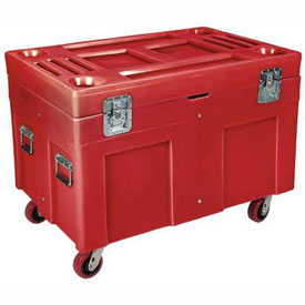 "Myton Shipping Container and Site Box RC-4534H5 with Casters - 45""L x 30""W x 34""H, Red"