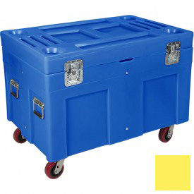 "Myton Shipping Container and Site Box RC-4534H5 with Casters - 45""L x 30""W x 34""H, Yellow"