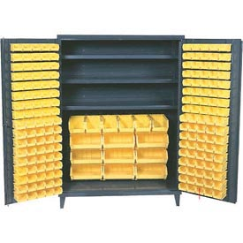 "Durham All Welded Storage Bin Cabinet SSC-602484-BDLP-3S-95 - 3 Shelves, No Bins 60""W X 24""D X 84""H"