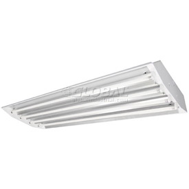 TCPI EL4SA454UNIV10CSPF High Bay Light Fixture 4-Lamps T5HO With Miro 4 Reflector 120-277 Volts