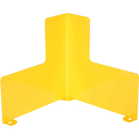 """Steel Corner Guard With Safety First Message 24""""H Center 24""""L X 12""""H Side"""