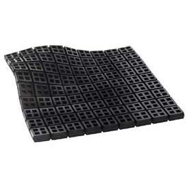 "Easy Cut Waffle Pad - Natural Rubber 6"" X 6"" X 3/4"""