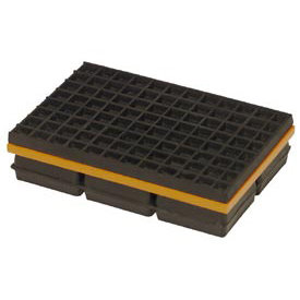 "Mason Industries WMSW6X4 Super W Pad - Neoprene And Steel Pad With Friction Pad 6"" X 4"" X 1 1/4"""