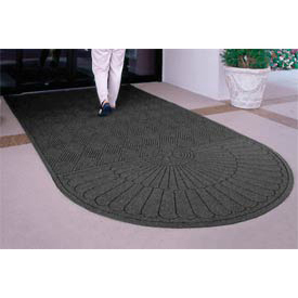 "Waterhog Grand Classic Mat One Oval / One Straight 3'W X 5'6""L Charcoal"
