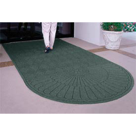 "Waterhog Grand Classic Mat One Oval / One Straight 3'W X 5'6""L Green"