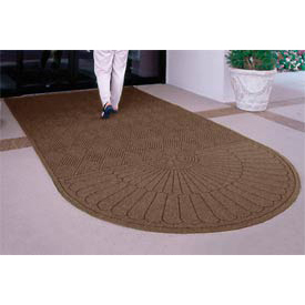"Waterhog Grand Classic Mat One Oval / One Straight 4'W X 5'11""L Brown"