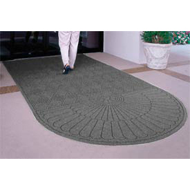 "Waterhog Grand Classic Mat One Oval / One Straight 4'W X 14'5""L Gray"