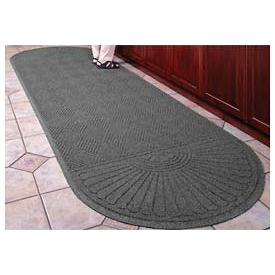 "Waterhog Grand Classic Mat Two Oval 6'W X 10'1""L Gray"