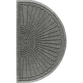 "Waterhog Grand Classic Mat Half Oval 3'W X 1'10""L Gray"