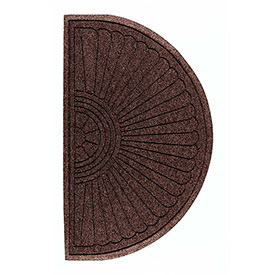 "Waterhog Grand Classic Mat Half Oval 4'W X 2'4""L Brown"