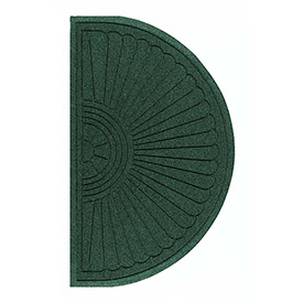 "Waterhog Grand Classic Mat Half Oval 4'W X 2'4""L Green"