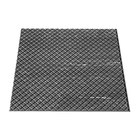 "Rubber Tile Diamond Pattern 24""W X 24""L Charcoal - Pkg Qty 3"