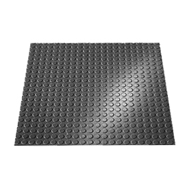 "Rubber Tile Round Disc Pattern 24""W X 24""L Black - Pkg Qty 3"