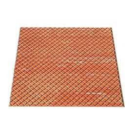 "Rubber Tile Diamond Pattern 24""W X 24""L Walnut - Pkg Qty 3"