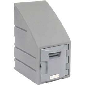Box Plastic Locker for 6 Tier - Sloped Top 12 X 15 X 23 Gray