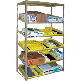 "Sloped Flow Shelving Starter 36""W x 18""D x 84 H"" Tan"