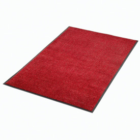 "Plush Super Absorbent Mat 48""W X 72""L Red-Black"