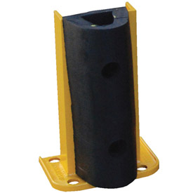 "Steel Rack Guard With Rubber Bumper 5.5""Wx3.75""Dx12""H"