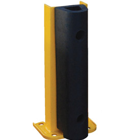 "Steel Rack Guard With Rubber Bumper 5.5""Wx3.75""Dx18""H"