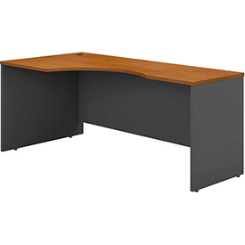 Left Corner Desk In Natural Cherry - Office Furniture Groupings